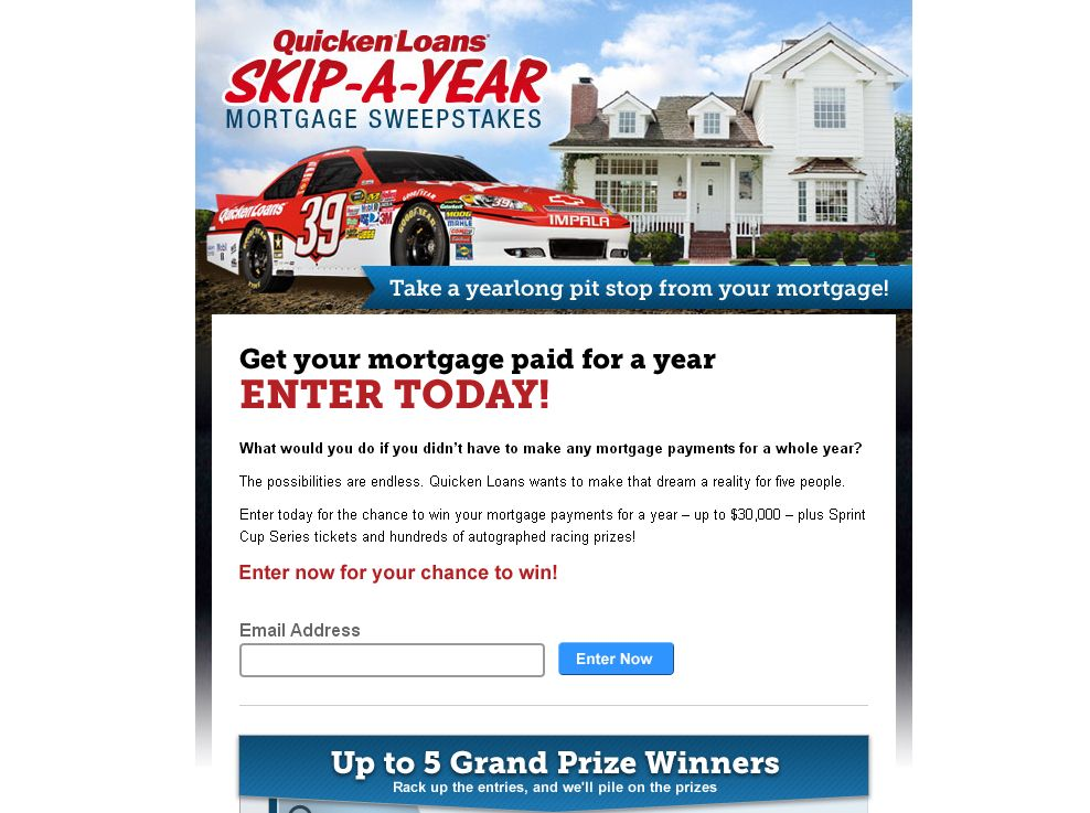 Quicken Loans Skip-A-Year Mortgage Sweepstakes