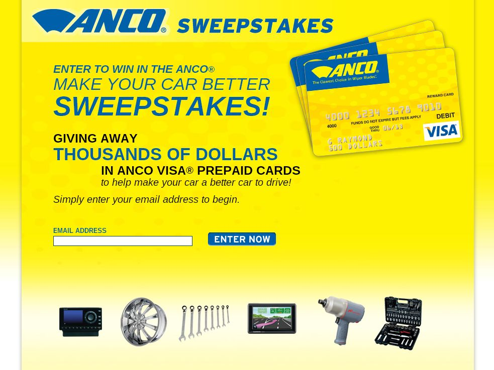 ANCO Sweepstakes