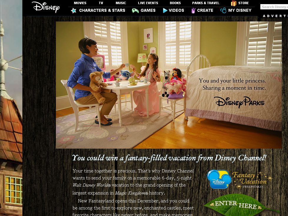 Disney Channel Fantasy Vacation Sweepstakes