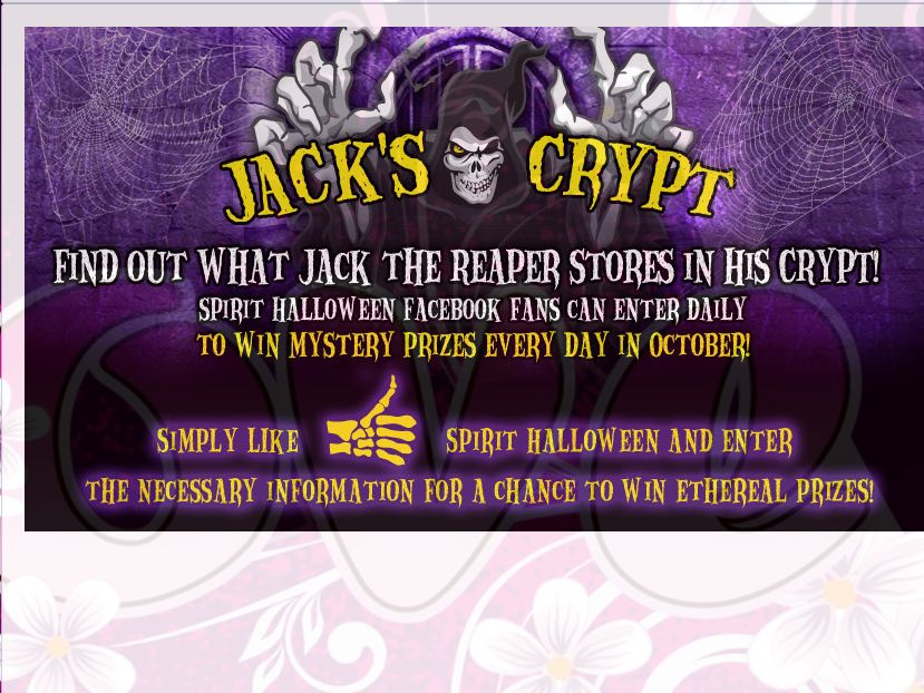 spirit halloween whats in jacks crypt sweepstakes dcor giveaway