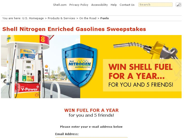 Shell Fuel For a Year Promotion