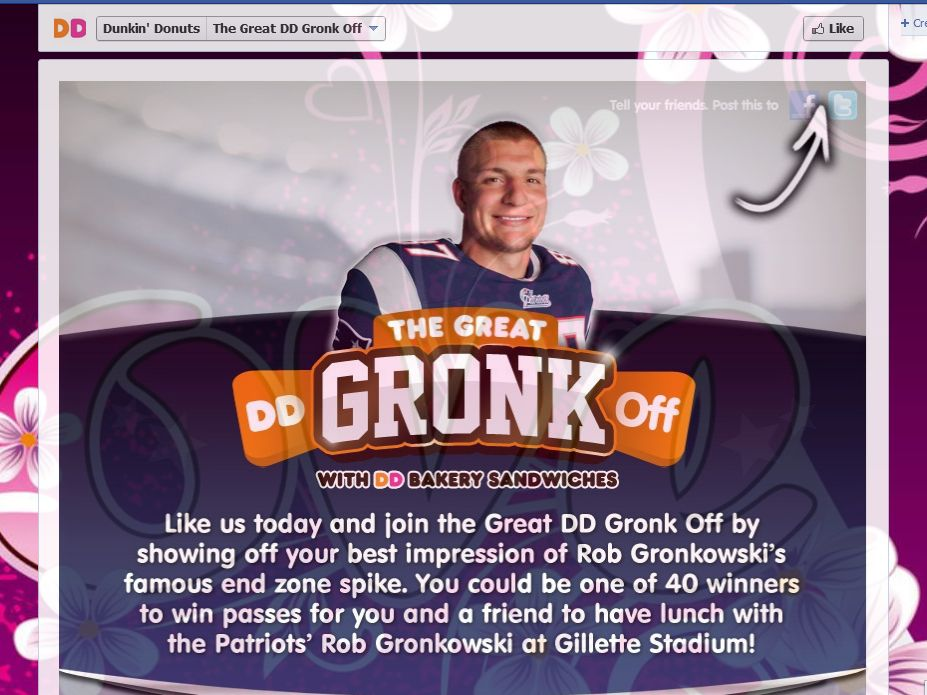 Dunkin' Donuts the Great Gronk Off