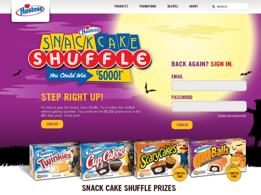 Hostess Snack Cake Shuffle Promotion