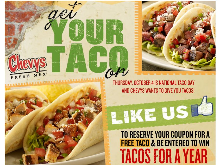 Chevys Fresh Mex Giveaway
