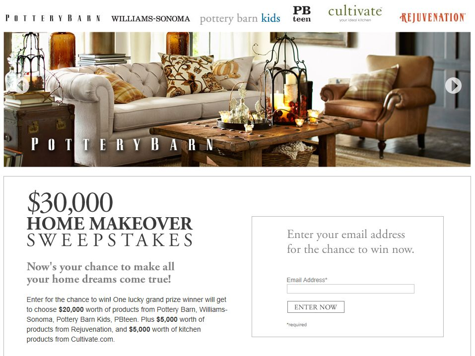 $30,000 Home Makeover Sweepstakes