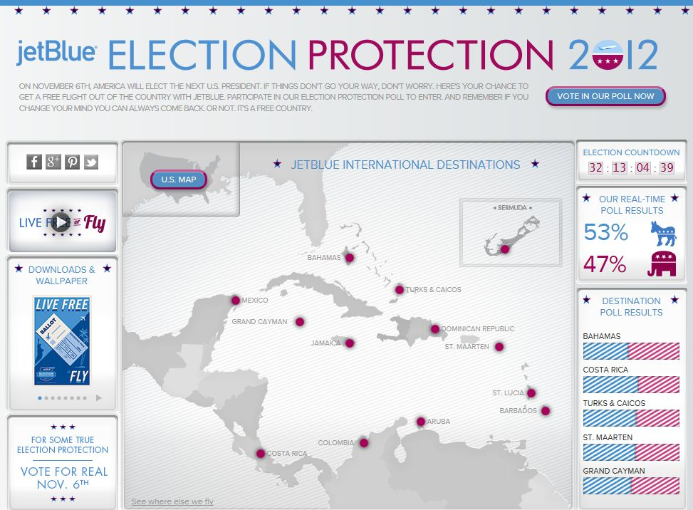 JetBlue Election Protection Sweepstakes