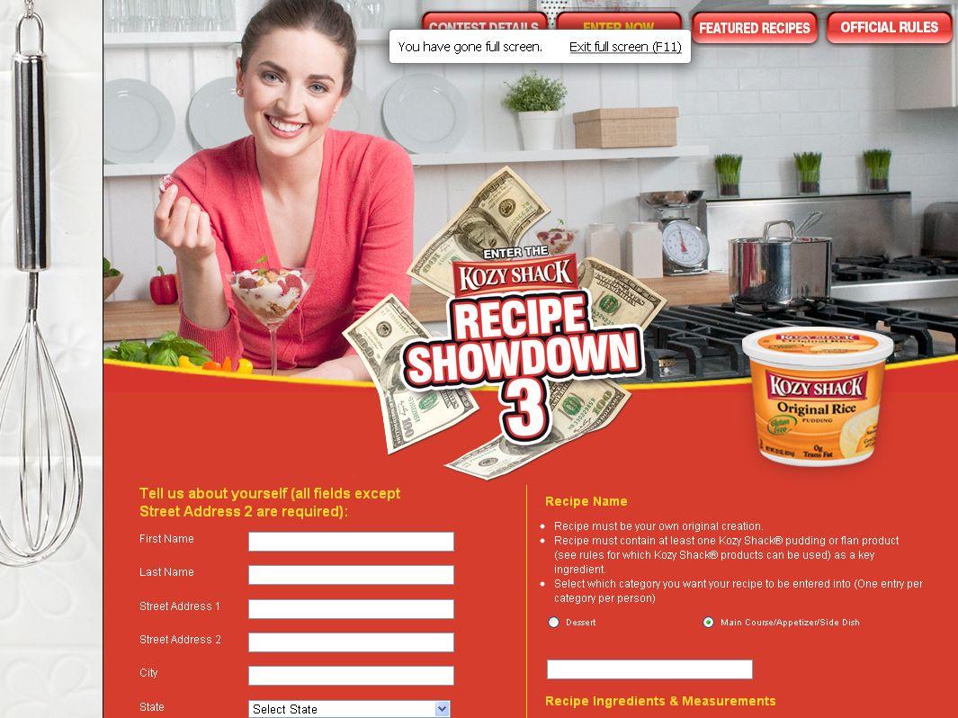 Kozy Shack Recipe Showdown