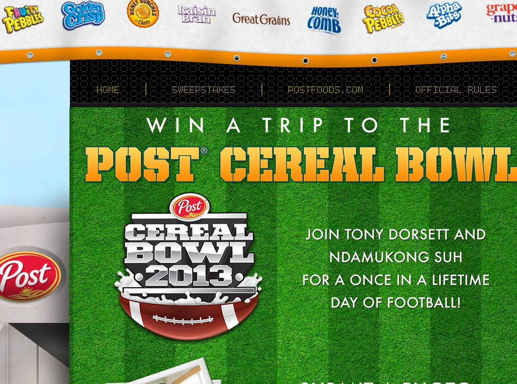 Post Cereal Bowl Sweepstakes