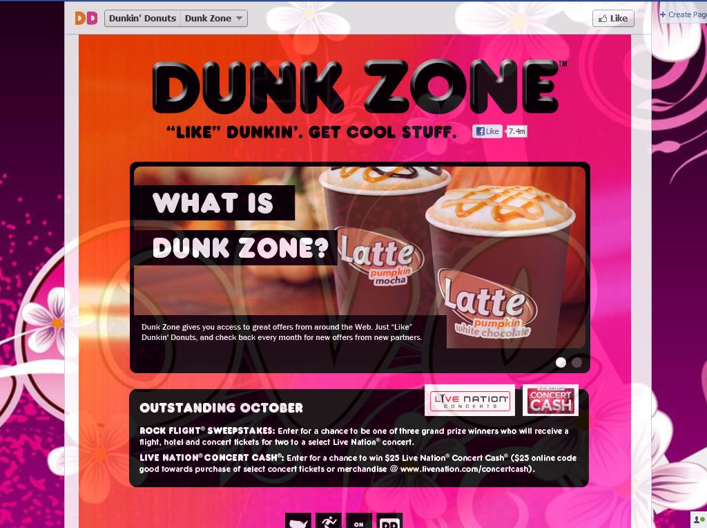 Dunkin' Donuts Live Nation Rock Flight Sweepstakes