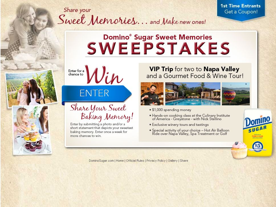 Domino Sugar Sweepstakes