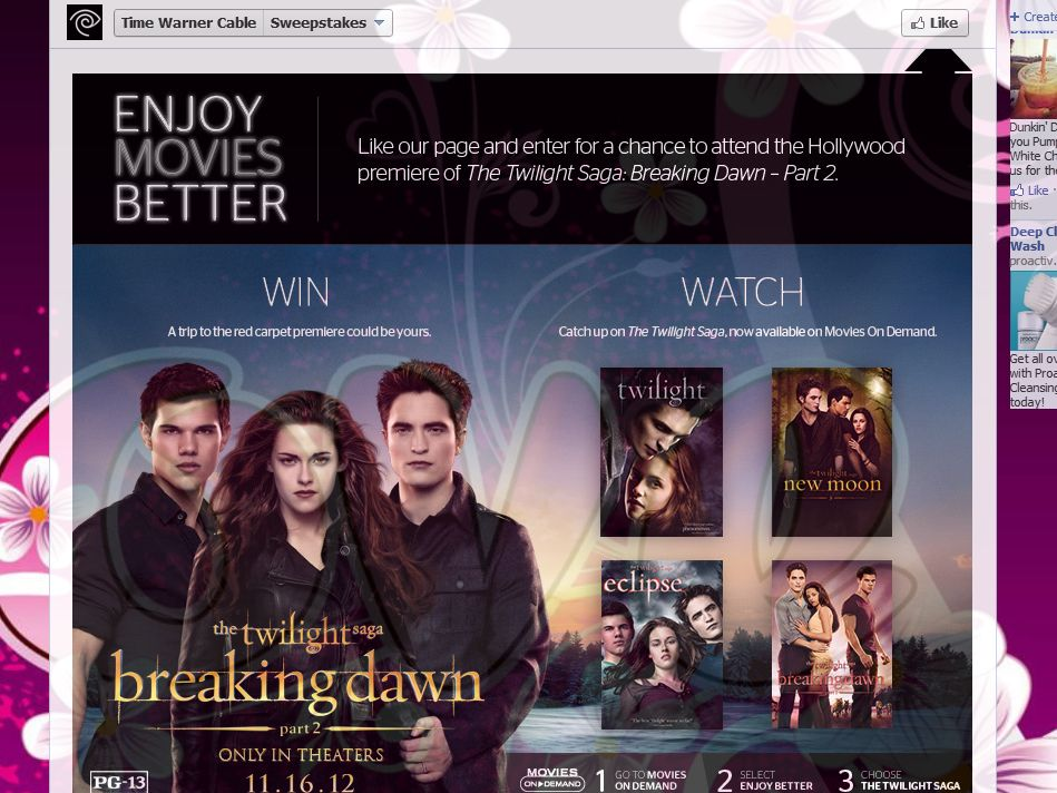 Twilight Saga: Breaking Dawn – Part 2 Sweepstakes presented by Time Warner Cable