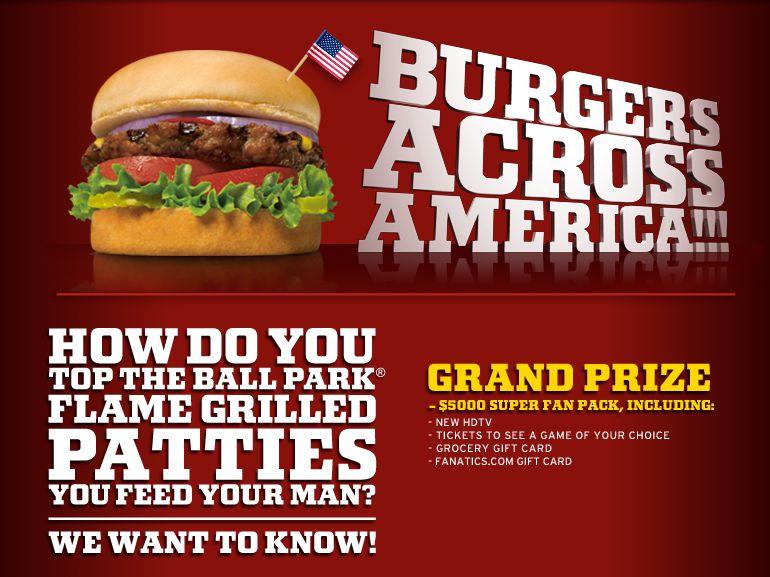 Ball Park Burgers Across America Contest