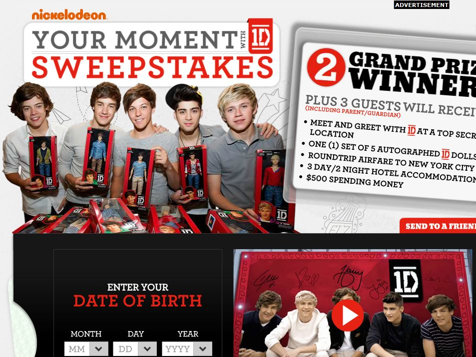 Your Moment with 1D Sweepstakes