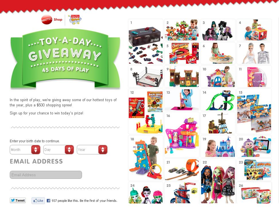 Mattel Toy-a-Day Giveaway