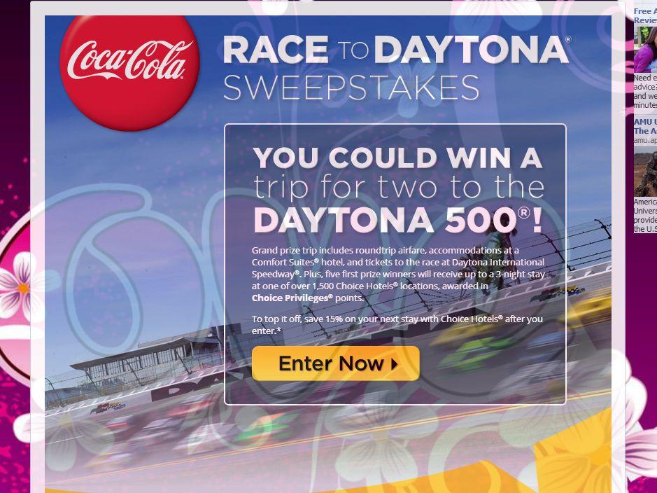 Coca-Cola Race to DAYTONA Sweepstakes