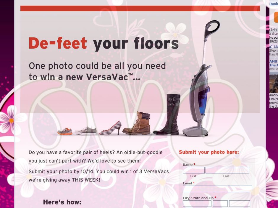 Oreck De-Feet your Floors Contest