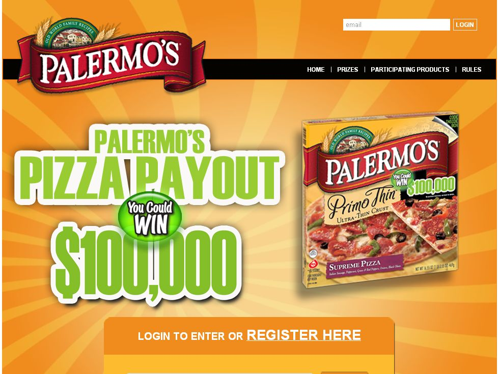 Palermo's Pizza Payout Sweepstakes