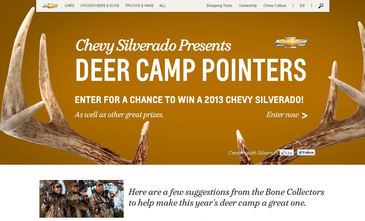 Chevy's Deer Camp Sweepstakes