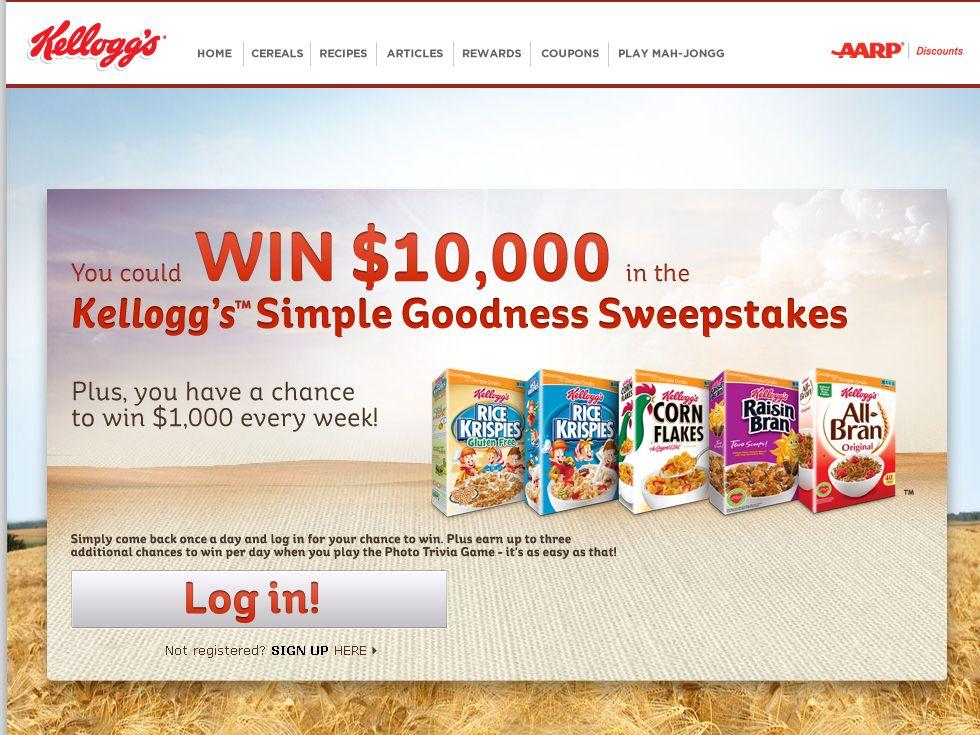 Kellogg's Simple Goodness Sweepstakes