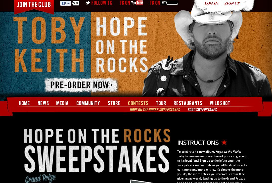 Hope On The Rocks Sweepstakes