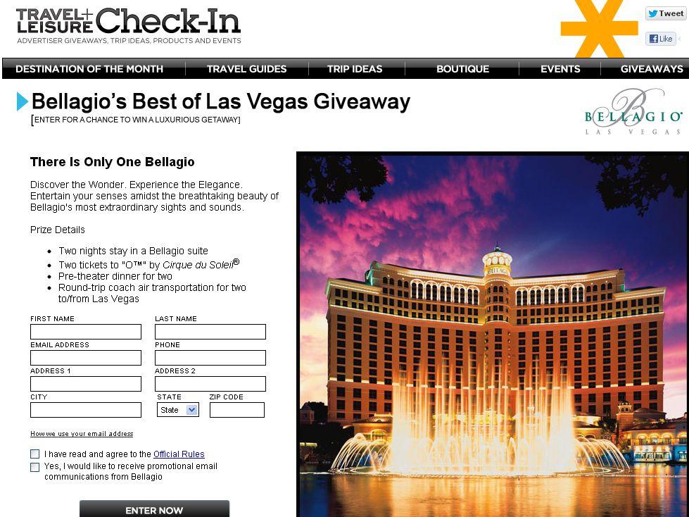 Bellagio's Best of Las Vegas Giveaway