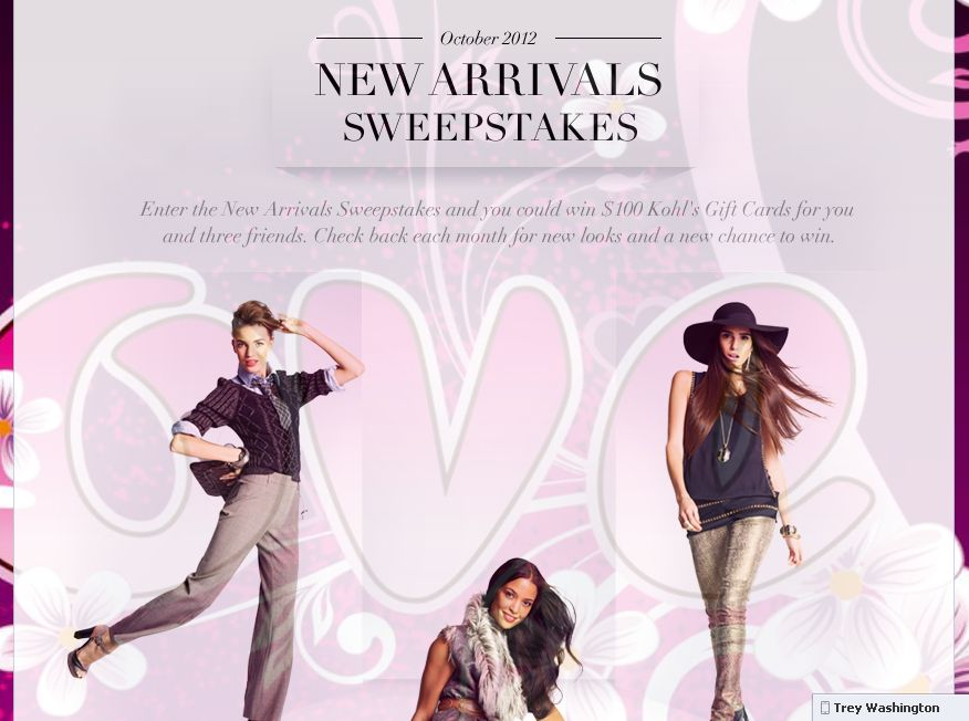 Kohl's New Arrivals Sweepstakes