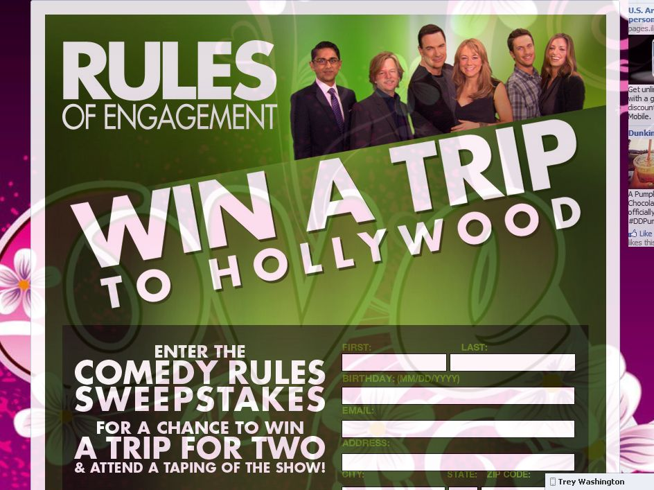 Rules of Engagement Comedy Rules Sweepstakes