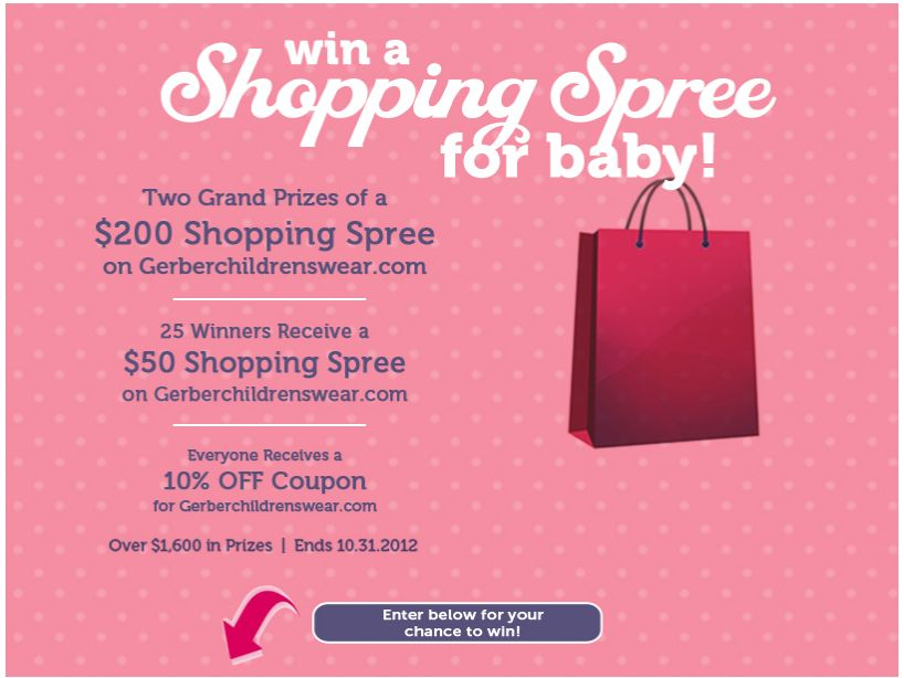 Gerber Childrenswear's Win a Shopping Spree for Baby! Sweepstakes
