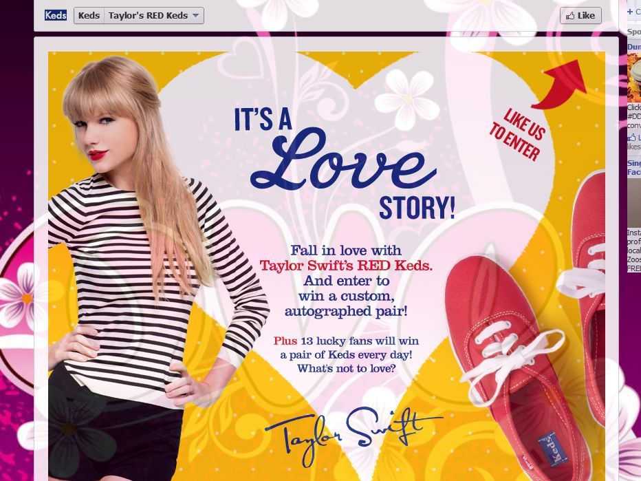 Keds It's a Love Story Sweepstakes