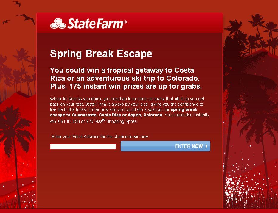 State Farm Spring Break Escape