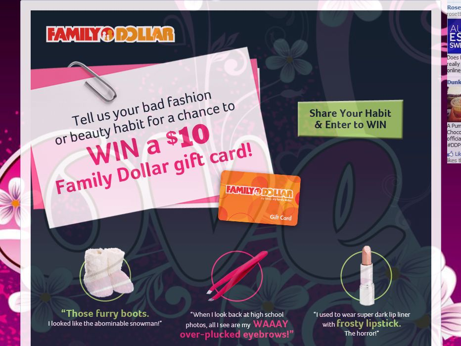Family Dollar Break Up With Your Bad Fashion or Beauty Habit Sweepstakes