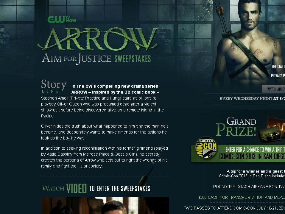 Arrow: Aim for Justice Sweepstakes