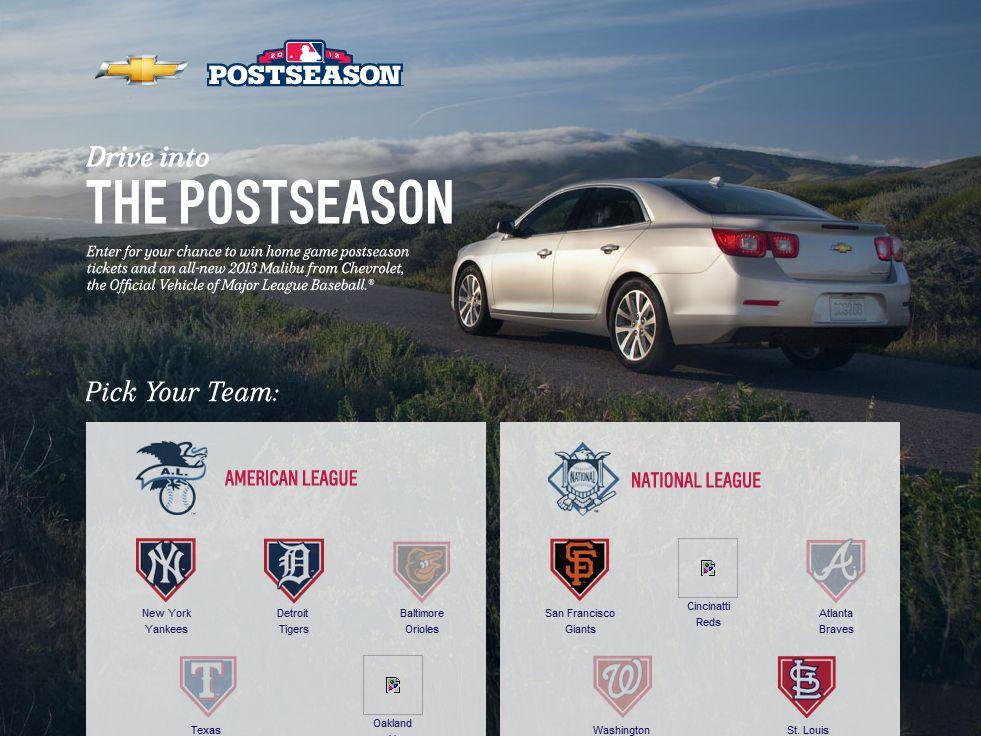 Chevrolet MLB Postseason Tickets Sweepstakes