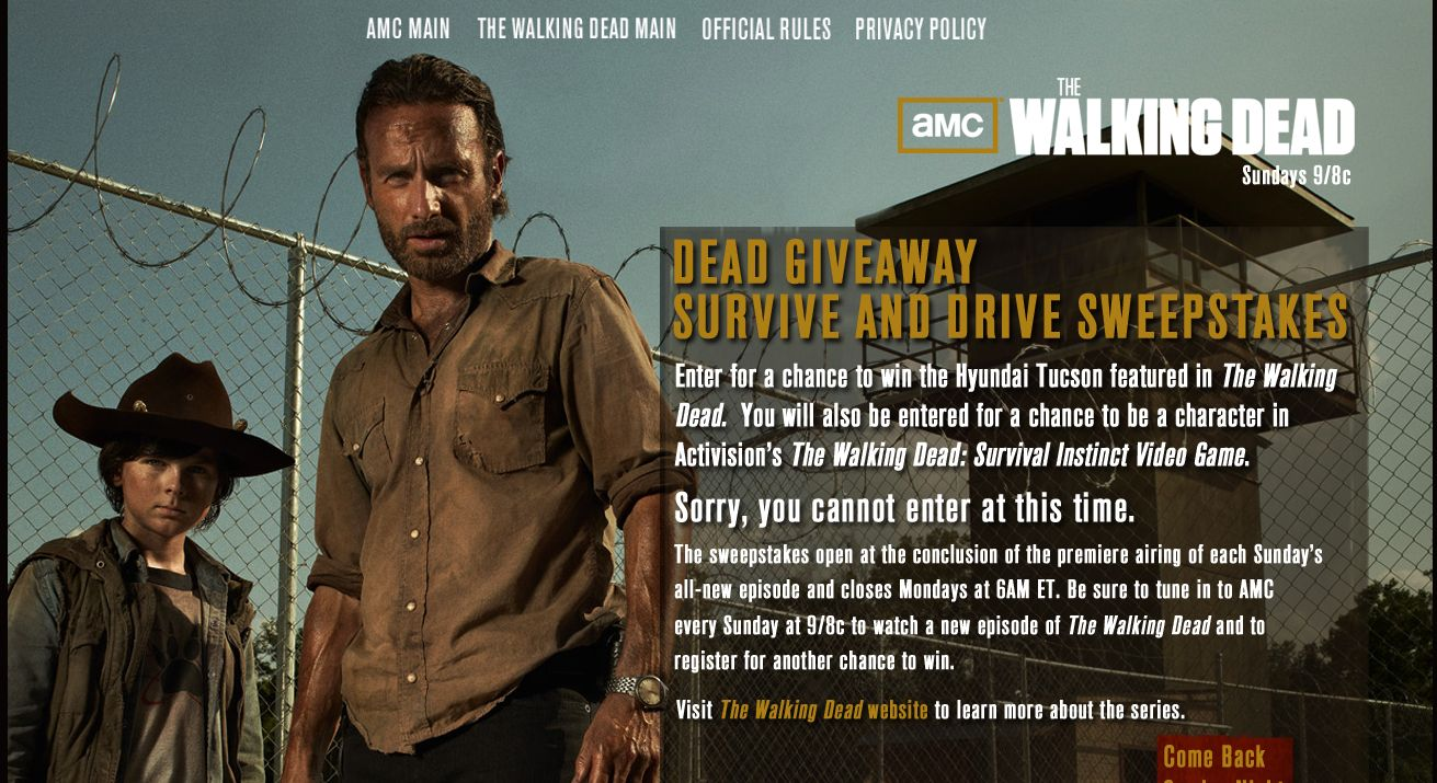 DEAD Giveaway/The Survive And Drive Sweepstakes