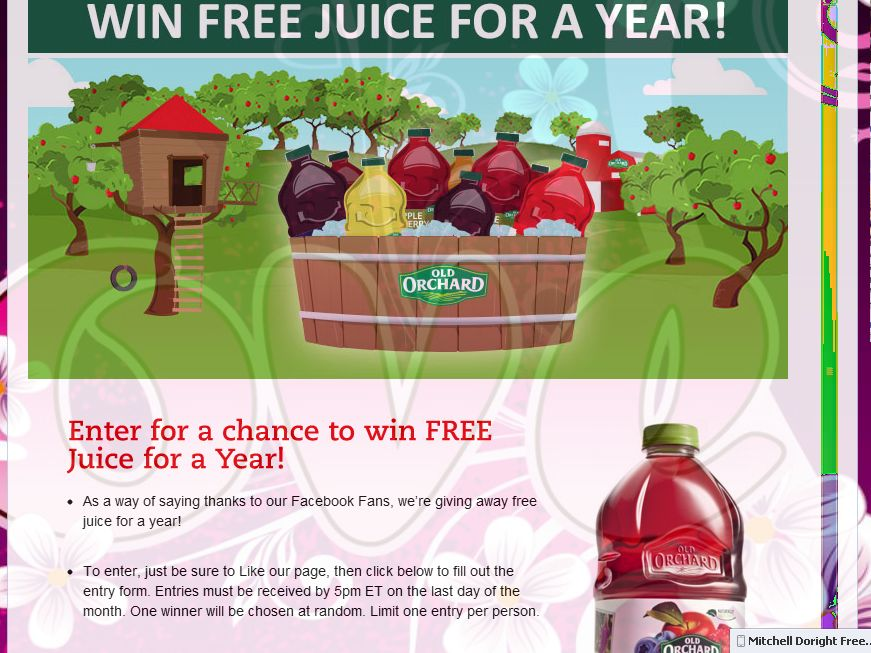 Old Orchard Free Juice Sweepstakes
