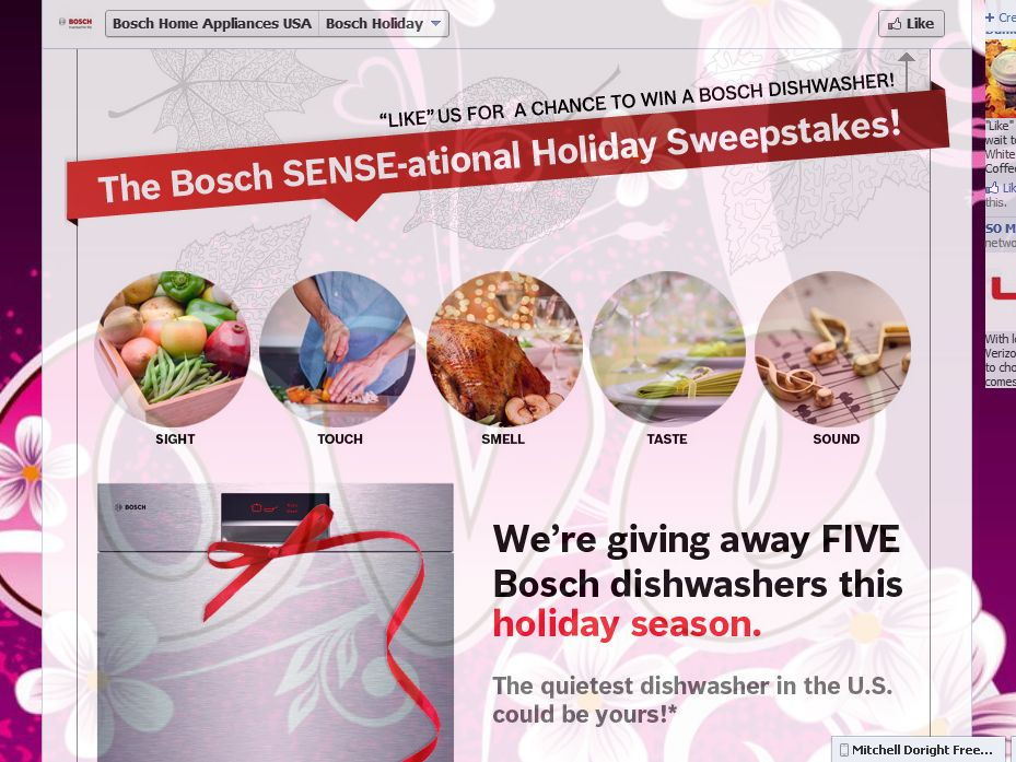BOSCH Sense-ational Holidays Sweepstakes