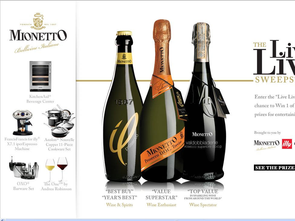 Mionetto Live Lively Sweepstakes