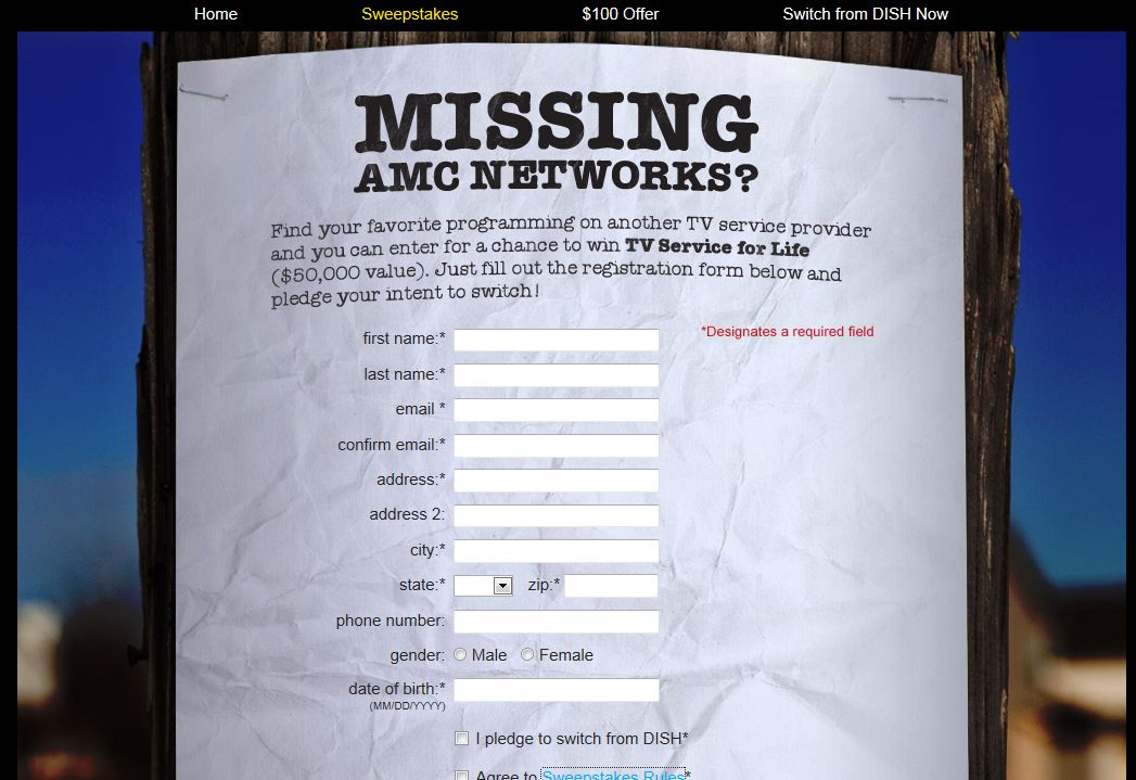 Find AMC Networks Sweepstakes