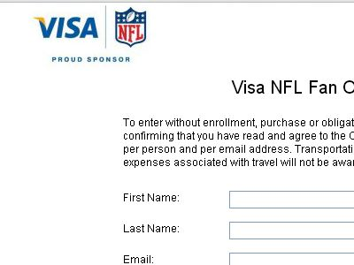 Visa NFL Fan Offers 2012 Tix Giveaway