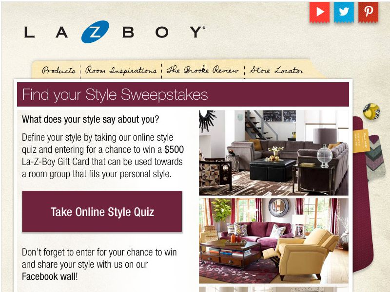 La-Z-Boy Find Your Style Sweepstakes