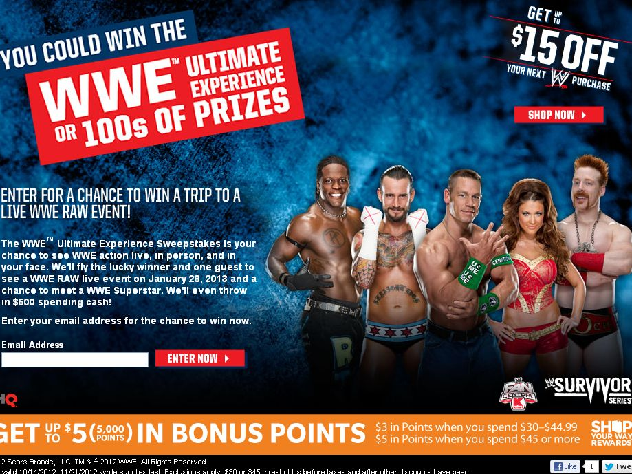 Kmart WWE Ultimate Experience Sweepstakes