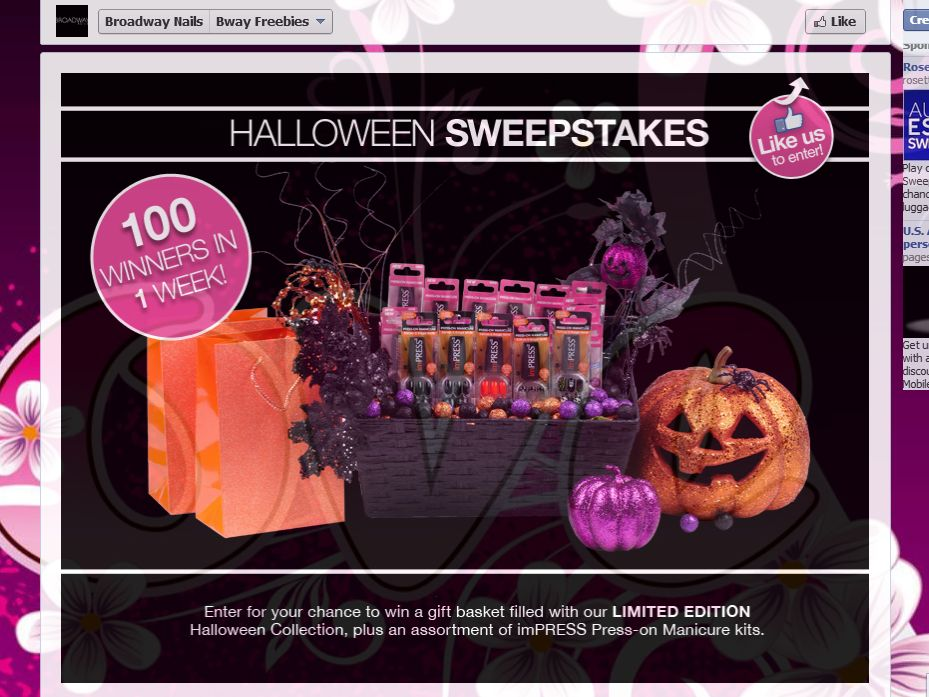Broadway Nails Halloween Giveaway Sweepstakes
