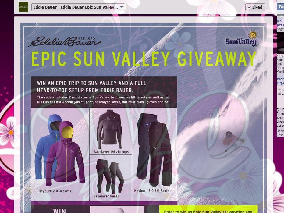 Eddie Bauer Ski Vacation Giveaway Sweepstakes