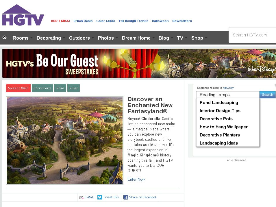 HGTV Be Our Guest Sweepstakes