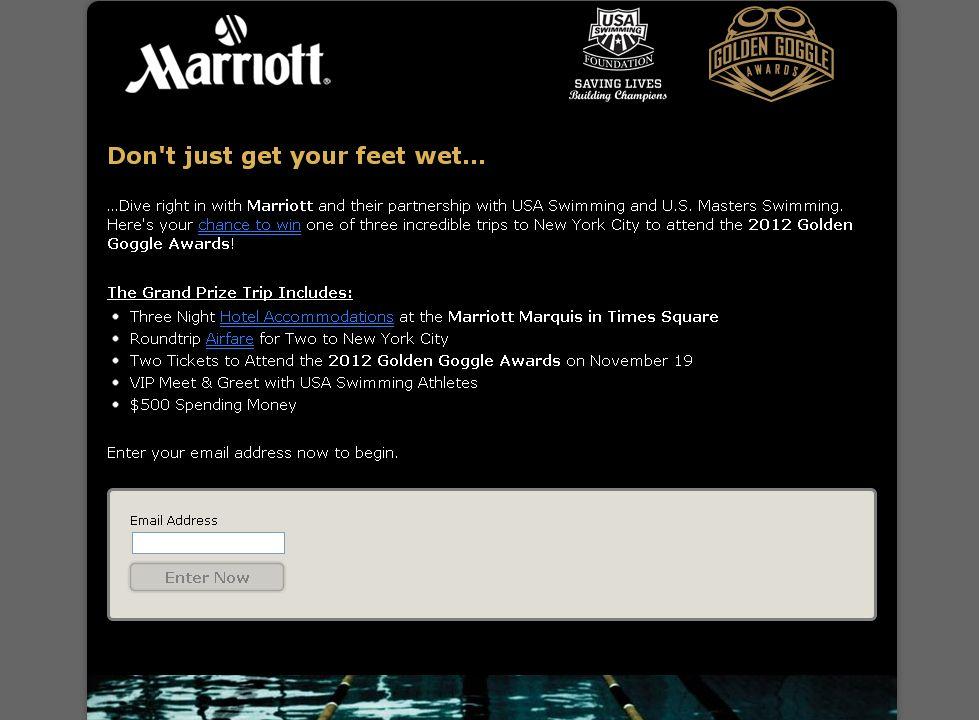 Marriott Golden Goggle Sweepstakes