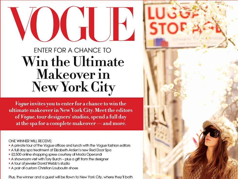 Vogue Makeover Sweepstakes 2012