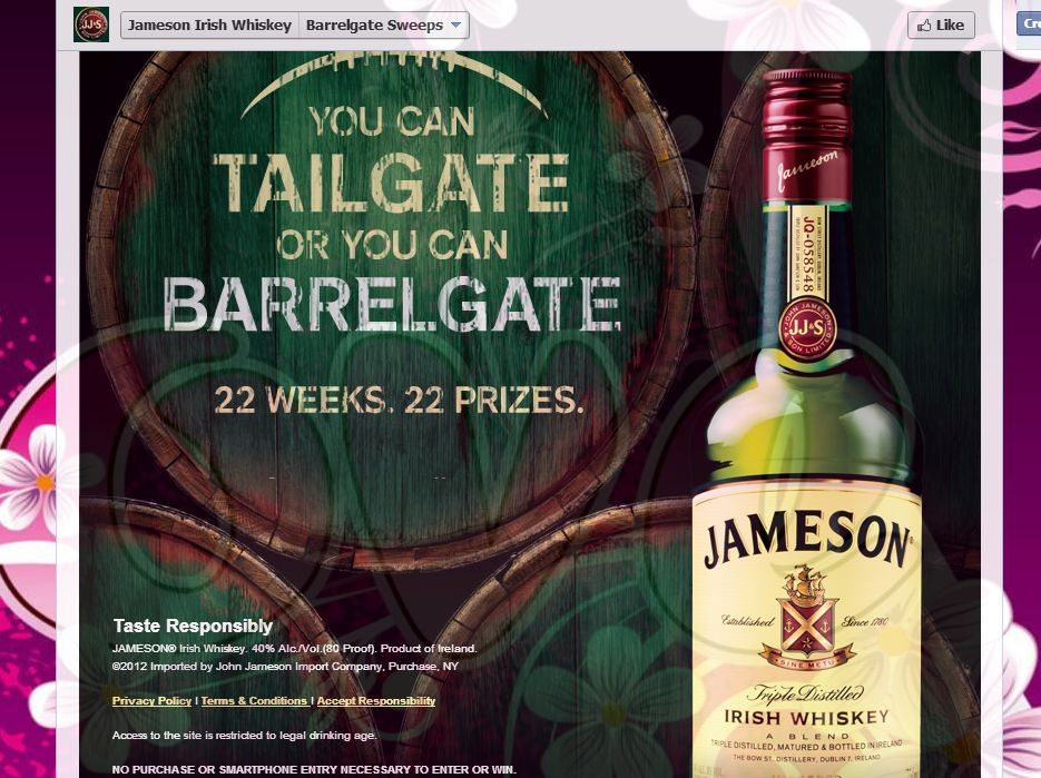 Jameson Barrelgate Sweepstakes
