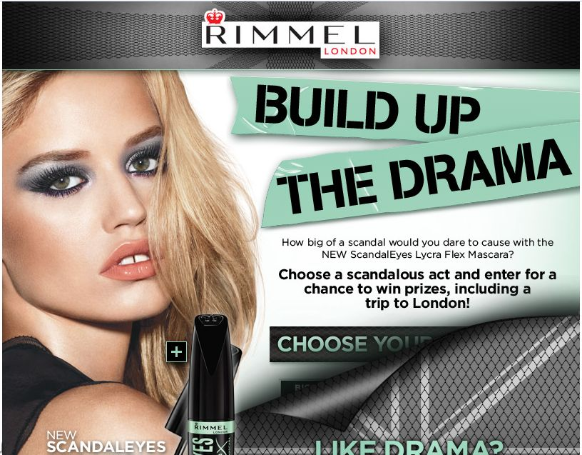 Rimmel London US Scandaleyes Lycra Flex Sweepstakes