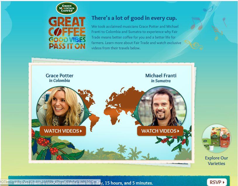 Green Mountain Coffee Great Coffee Good Vibes Sweepstakes
