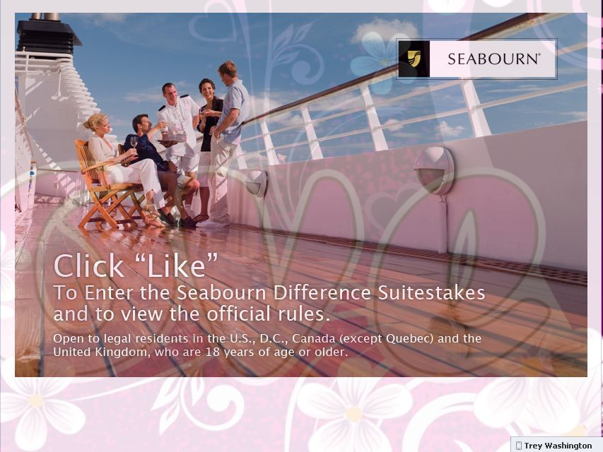 Seabourn Difference Suitestakes on Facebook